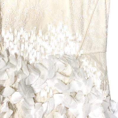 petal lace dress ivory